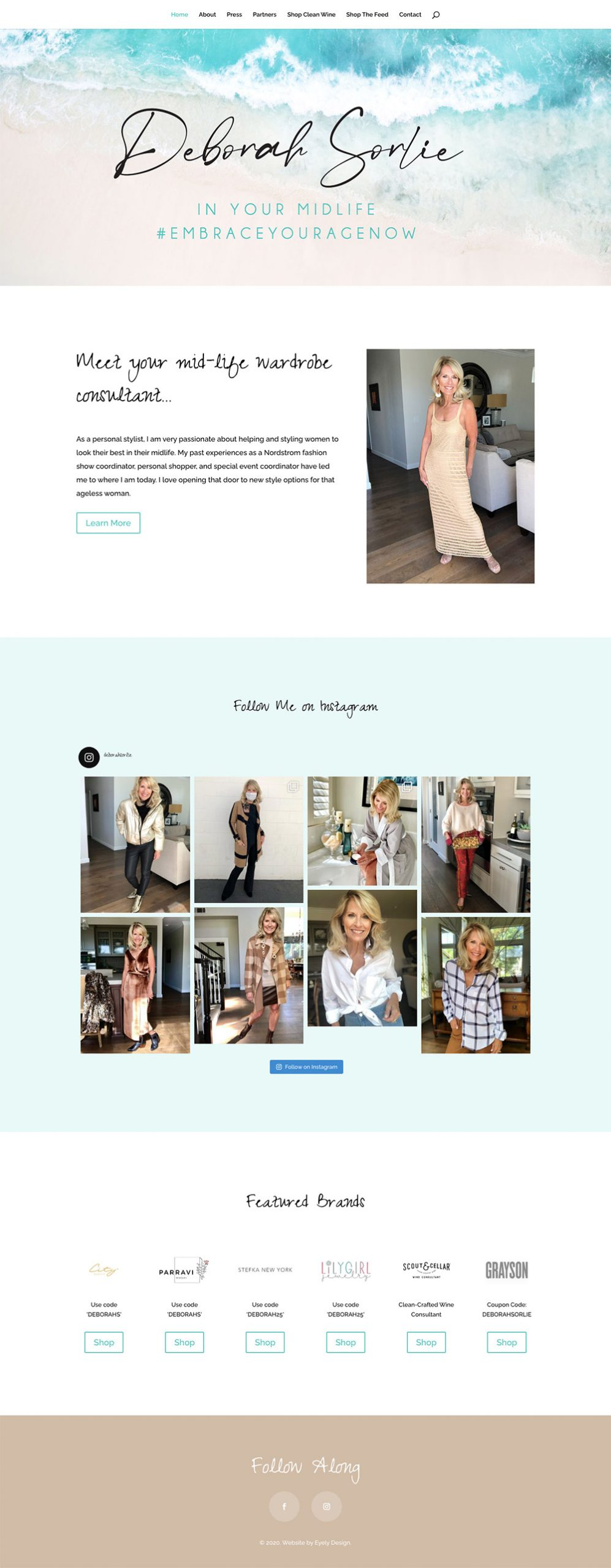 Deborah Sorlie website design