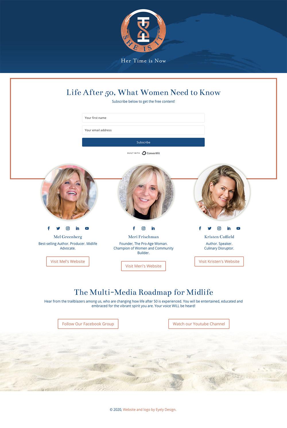 She Is It Website design