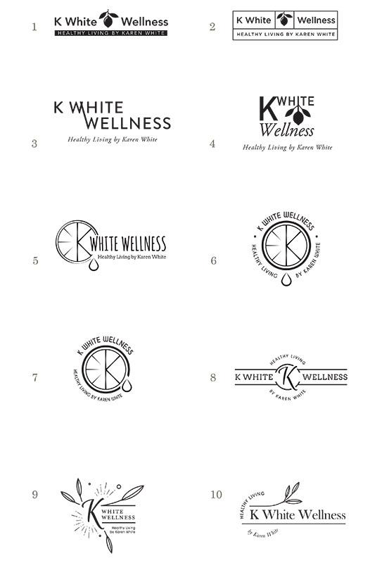 wellness coaching logo concepts