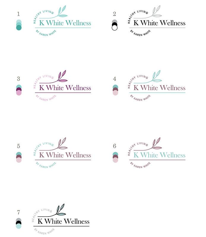 color choices wellness coach logo design