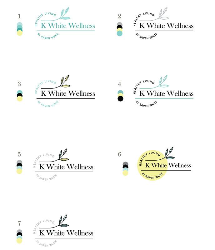 wellness coach logo design concepts color choices