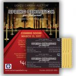 Shores Silent Auction – Poster, Flyer, and Ticket designs