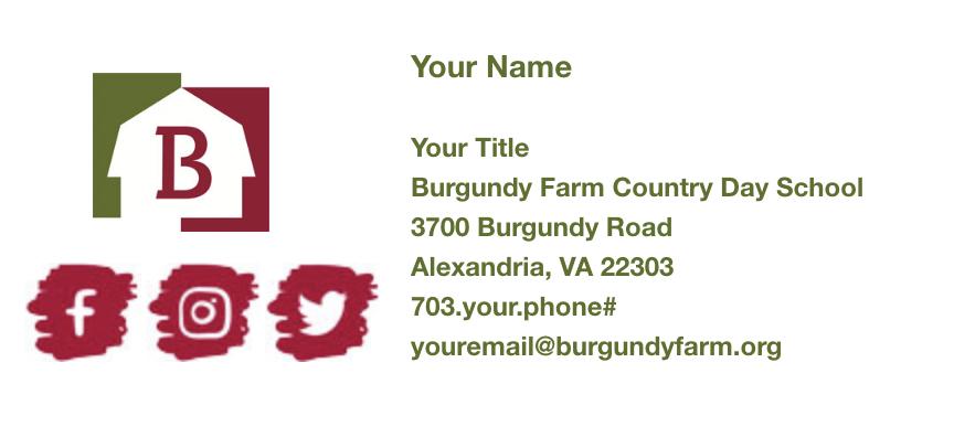 Burgundy School Simple Email Signature