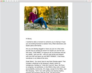 K White Wellness Email Templates