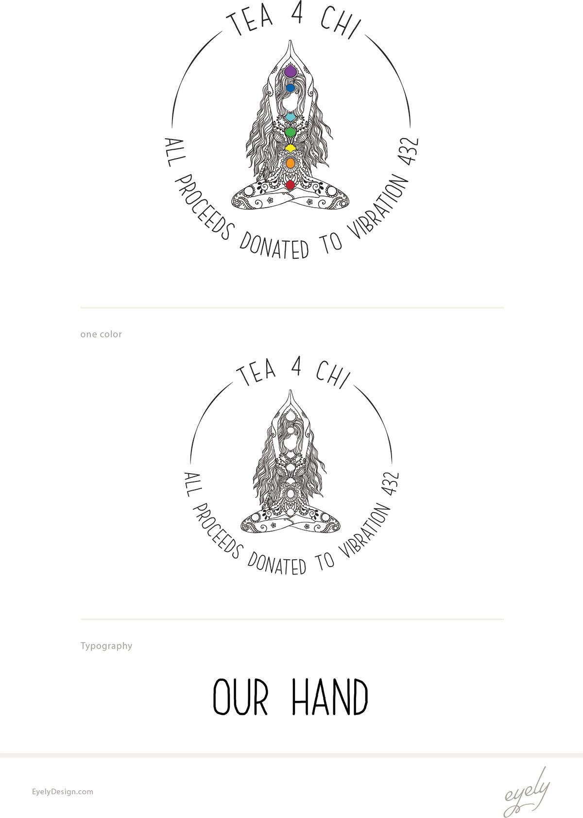 tea 4 chi logo design
