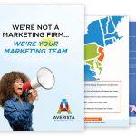 Averista Marketing Brochure, Business Card and Email Signature Design